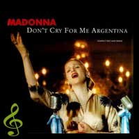 Сингл Don't Cry For Me Argentina